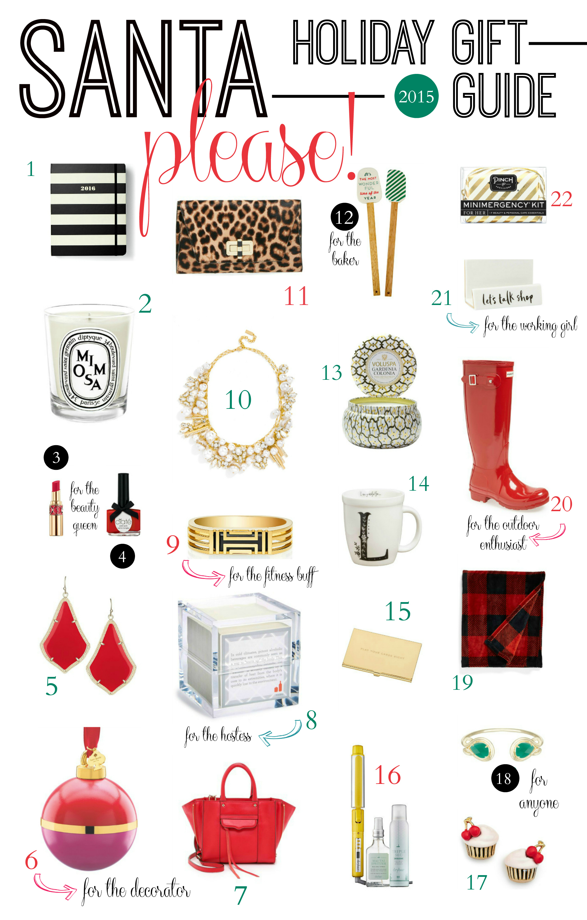 The best holiday gift guide for all the ladies on your list in 2015! Check out trendy items that she'll love and that'll fit within your budget.