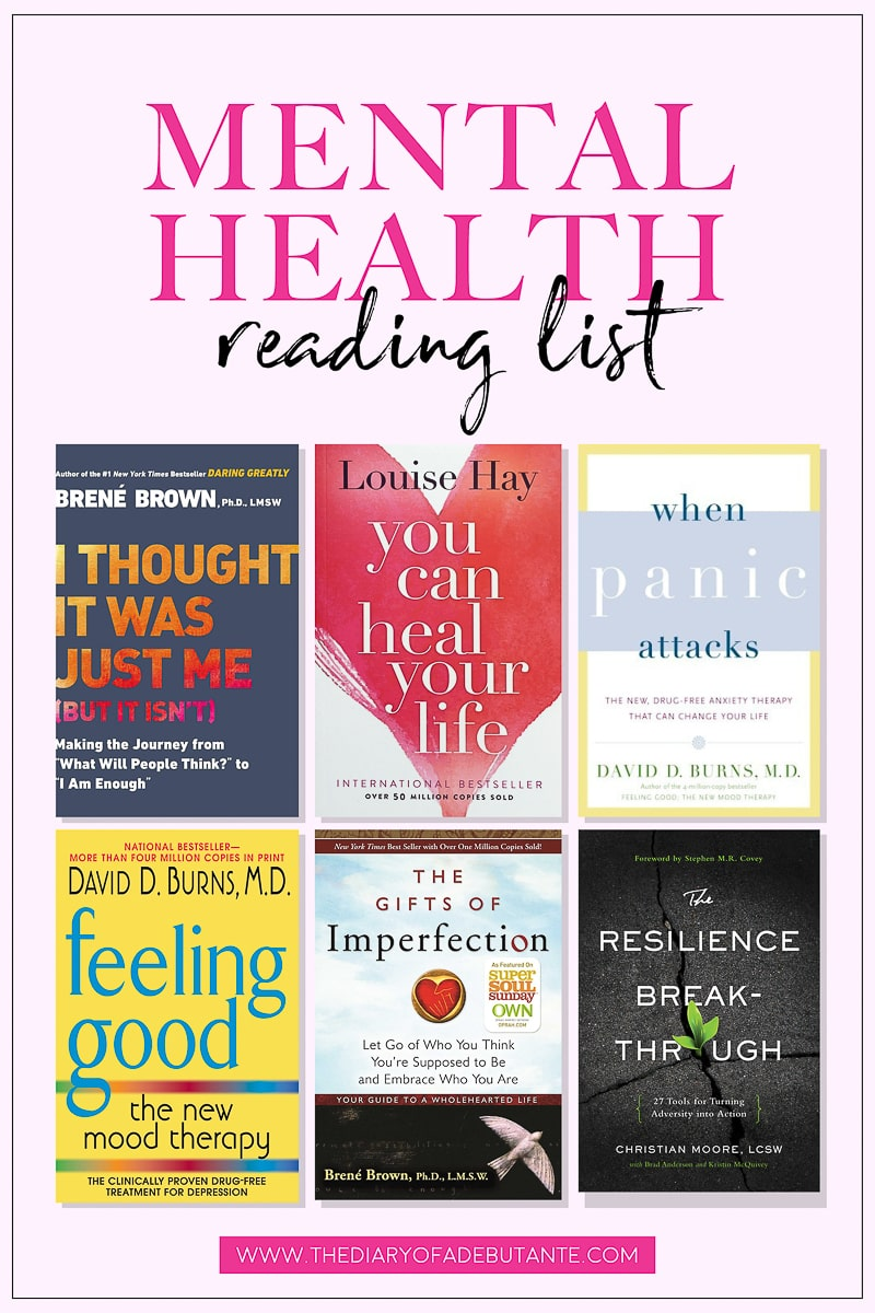 Stephanie Ziajka of Diary of a Debutante shares the 10 best mental health books for understanding depression and anxiety
