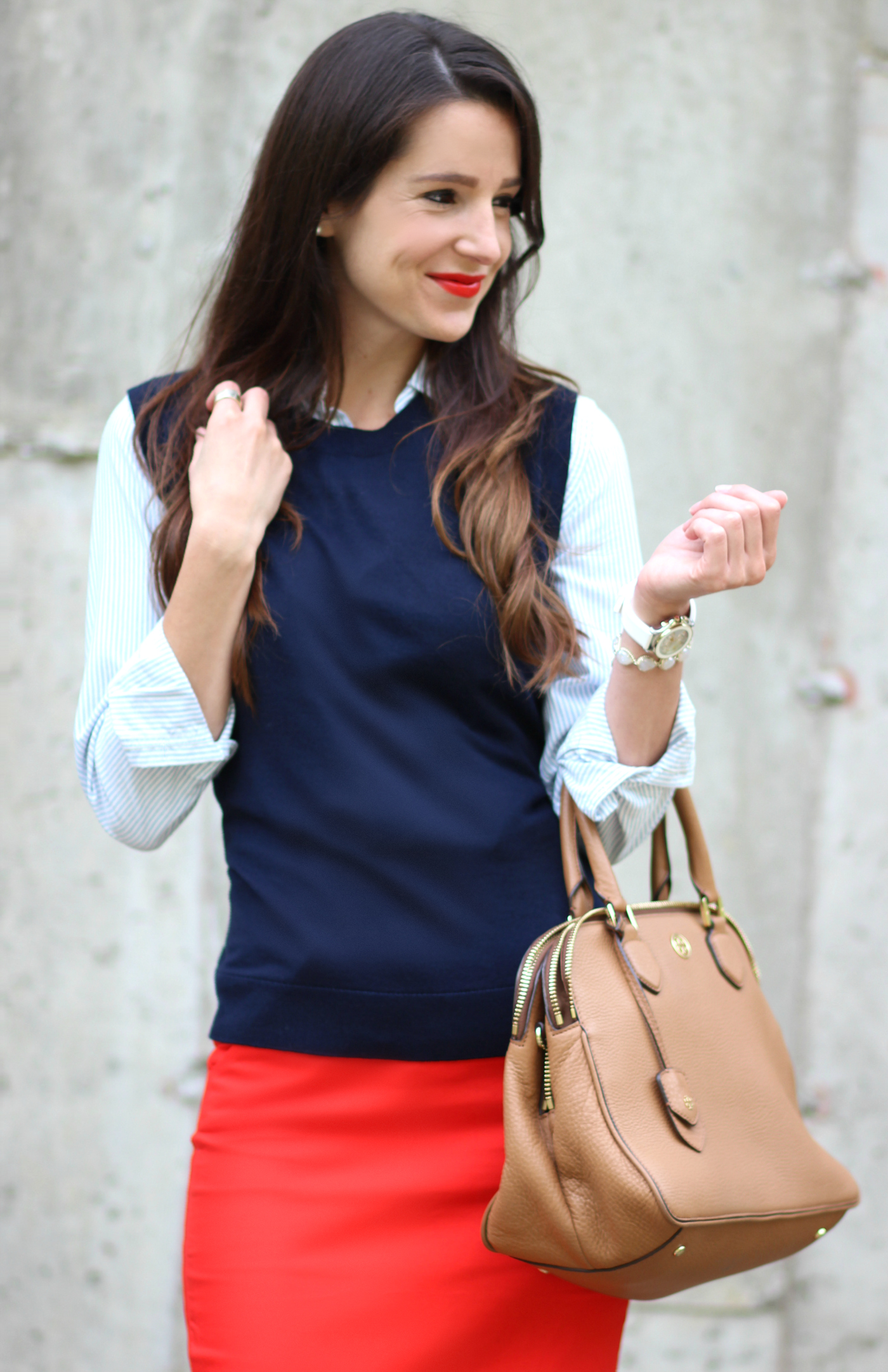 How to wear a navy sweater vest from a prep school graduate