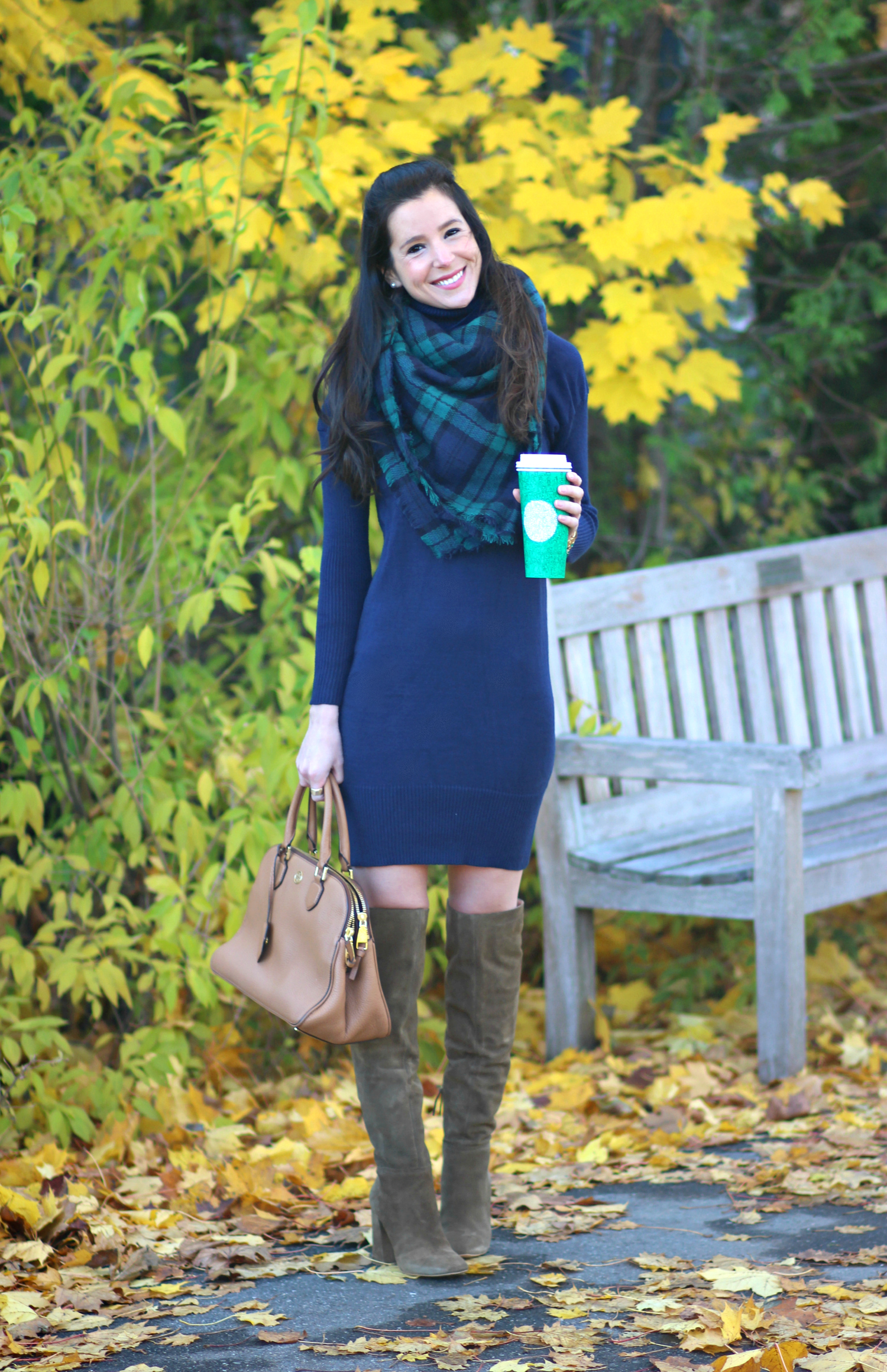 Zaful Navy Turtleneck Sweater Dress | Diary of a Debutante