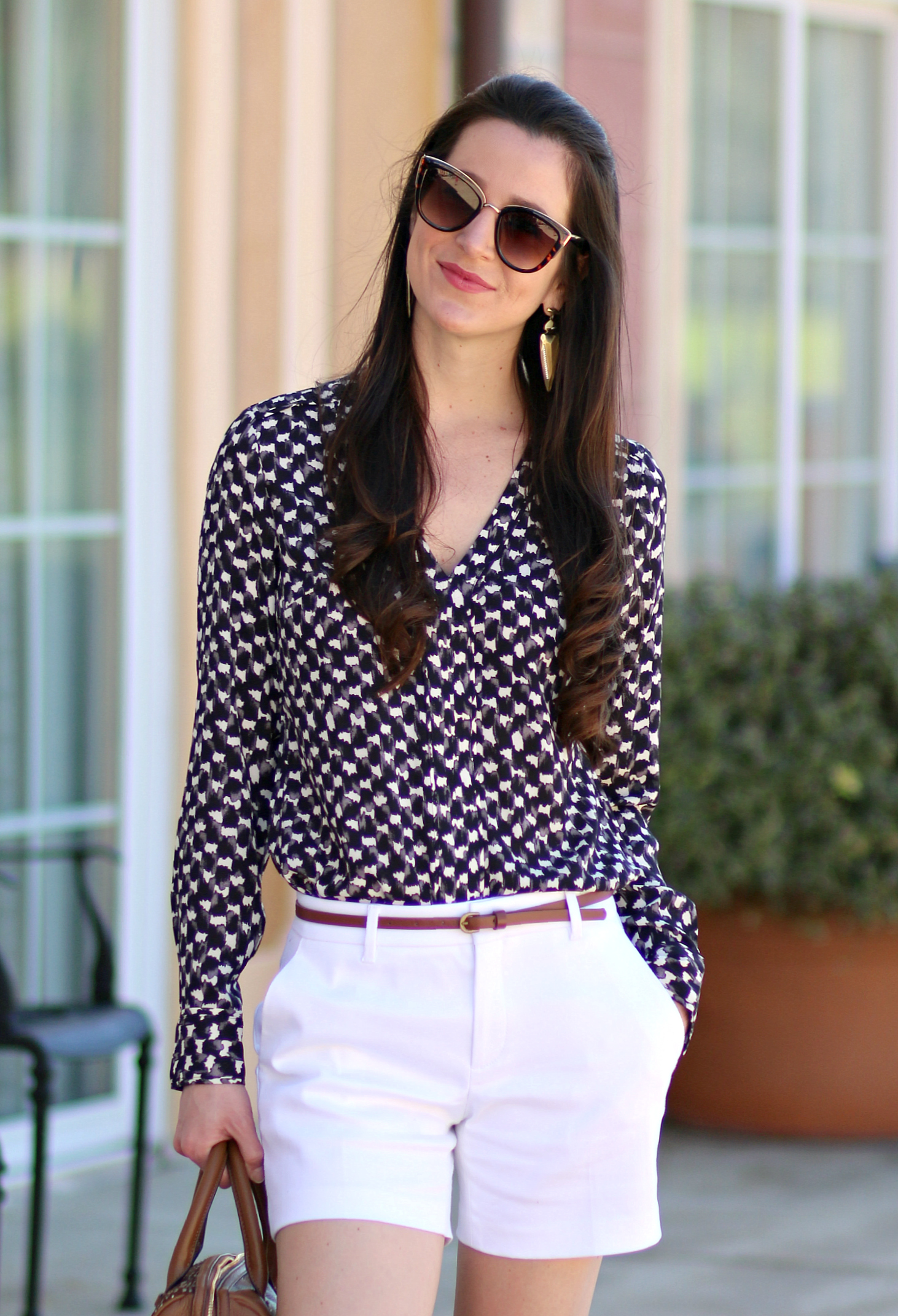 A versatile work top from Banana Republic that can be dressed up with jeans and heels or down with shorts and cute ballet flats