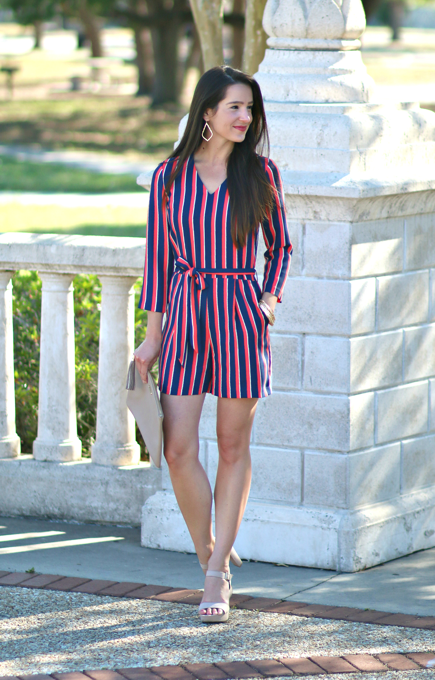 Banana Republic Vertical Stripe Romper