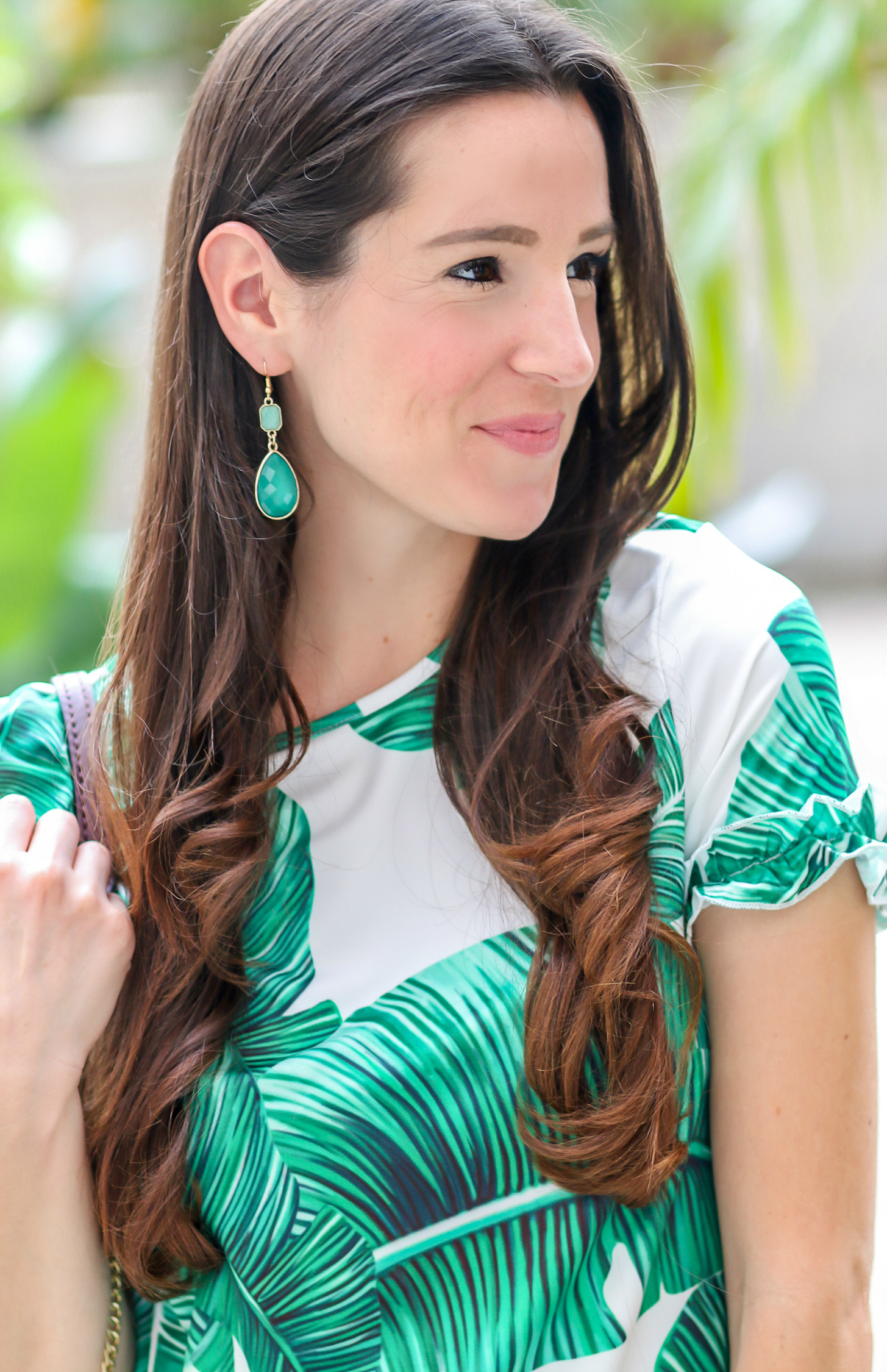 How to Add Volume to Second Day Hair + SheIn Palm Print Shift Dress