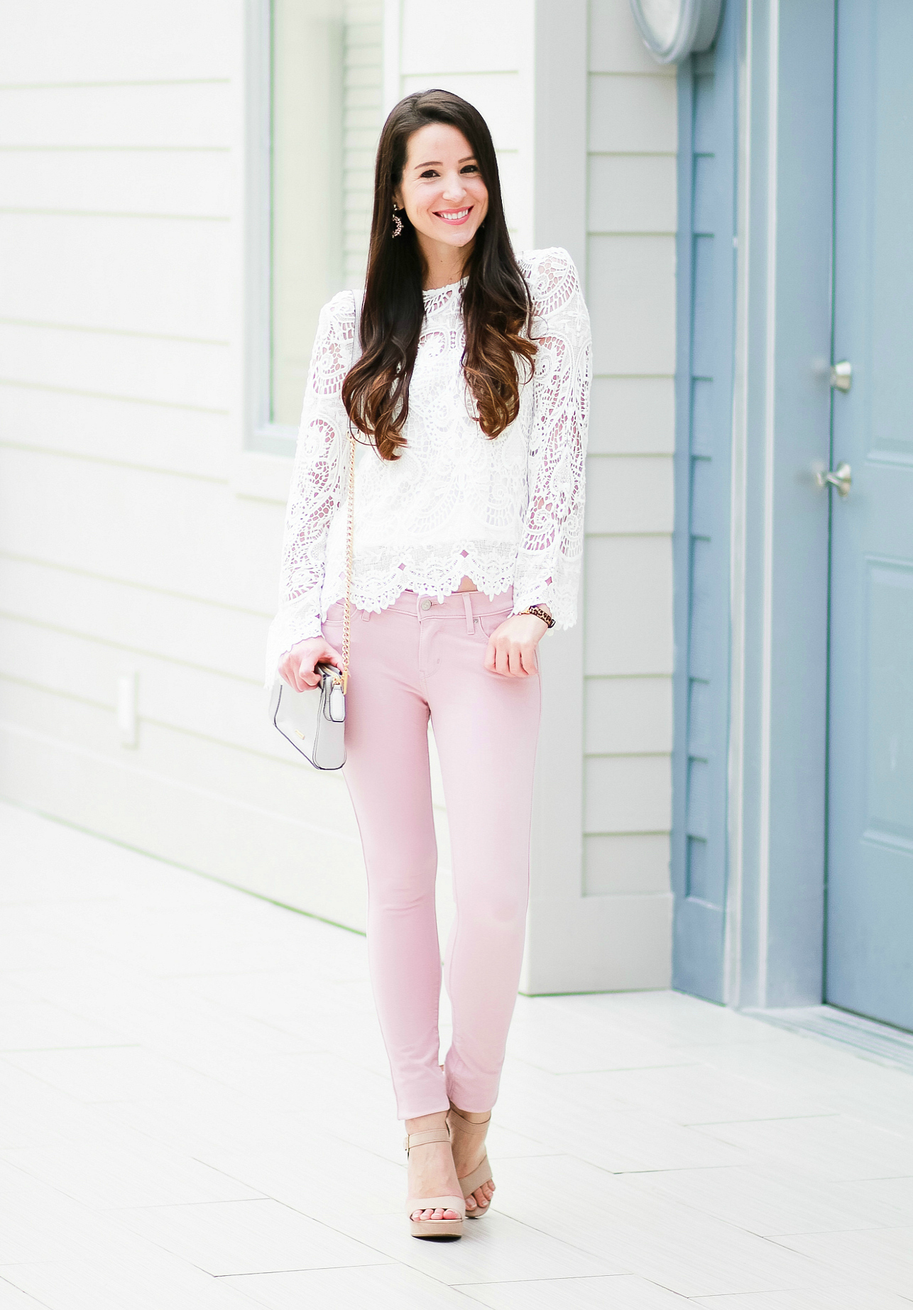 How To Wear Pink Skinny Jeans In The Fall Diary Of A