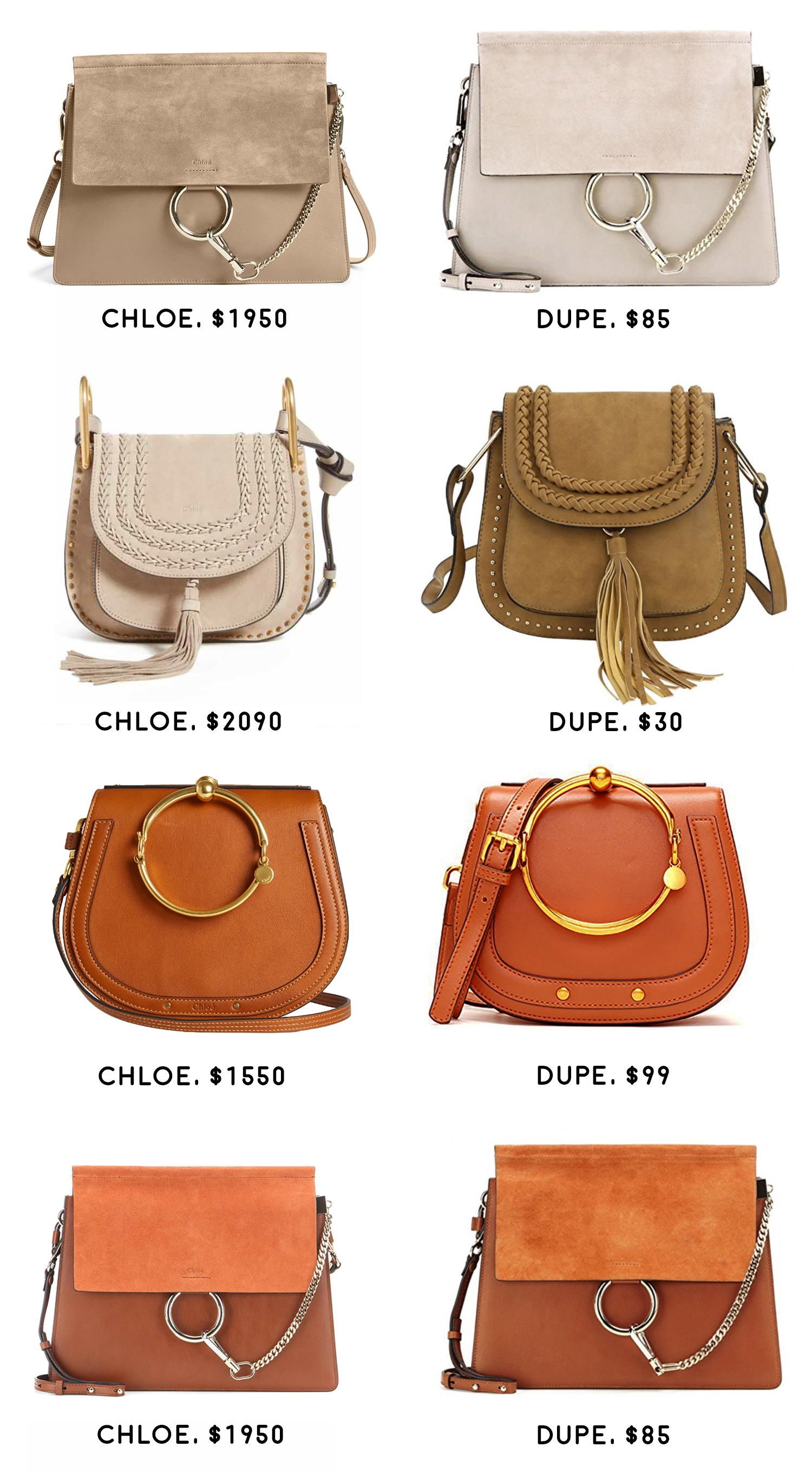 Chloé Look Alike Bags 1 4