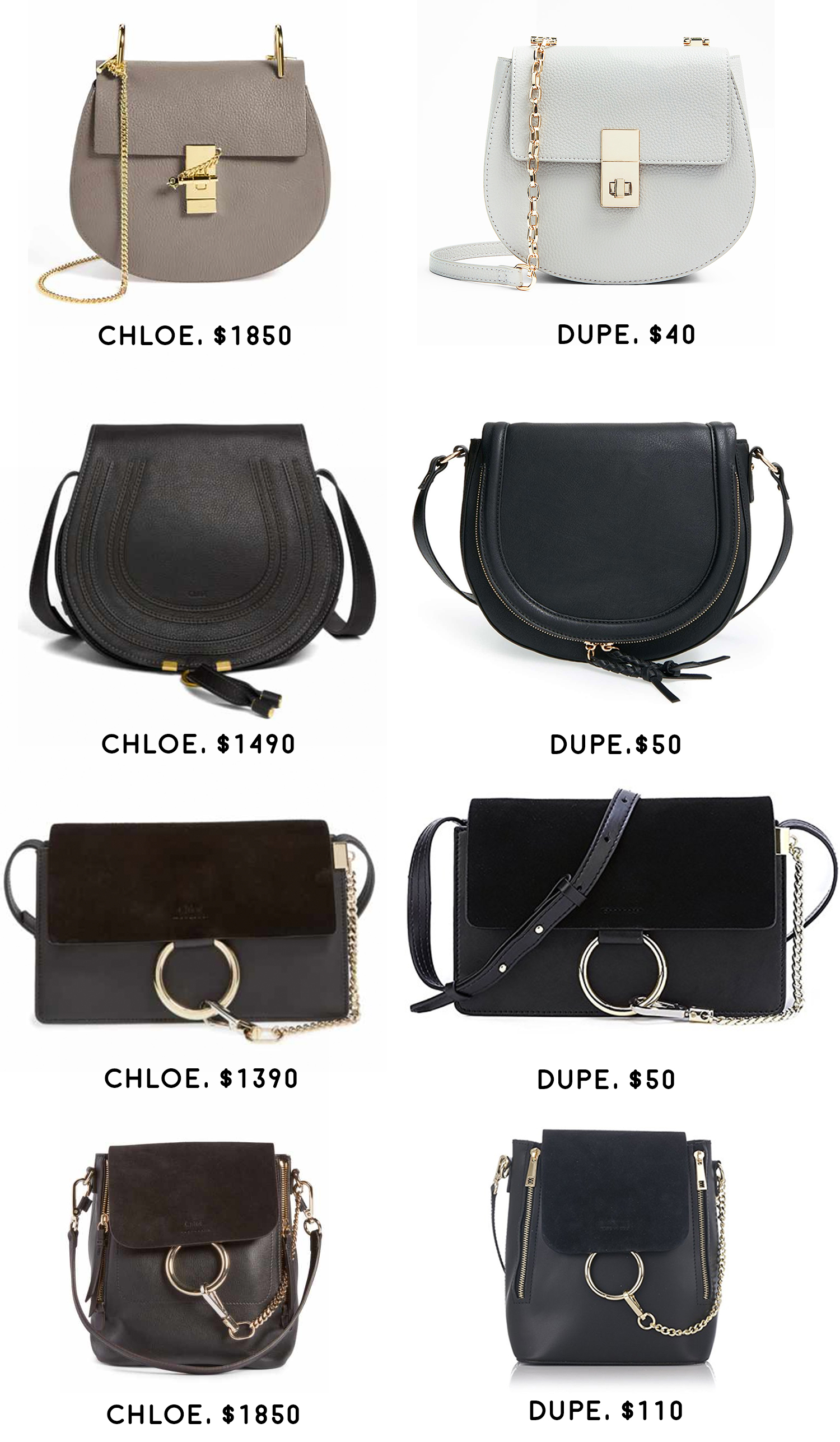 The Best Chloe Look Alike Bags (And Where to Find Them), Best Chloe designer dupe bags, 8 Chloe bag replicas that look just like the real deal by fashion blogger Stephanie Ziajka from Diary of a Debutante, Chloe marcie dupe bag, Chloe Faye dupe bag, Chloe Nile dupe bag