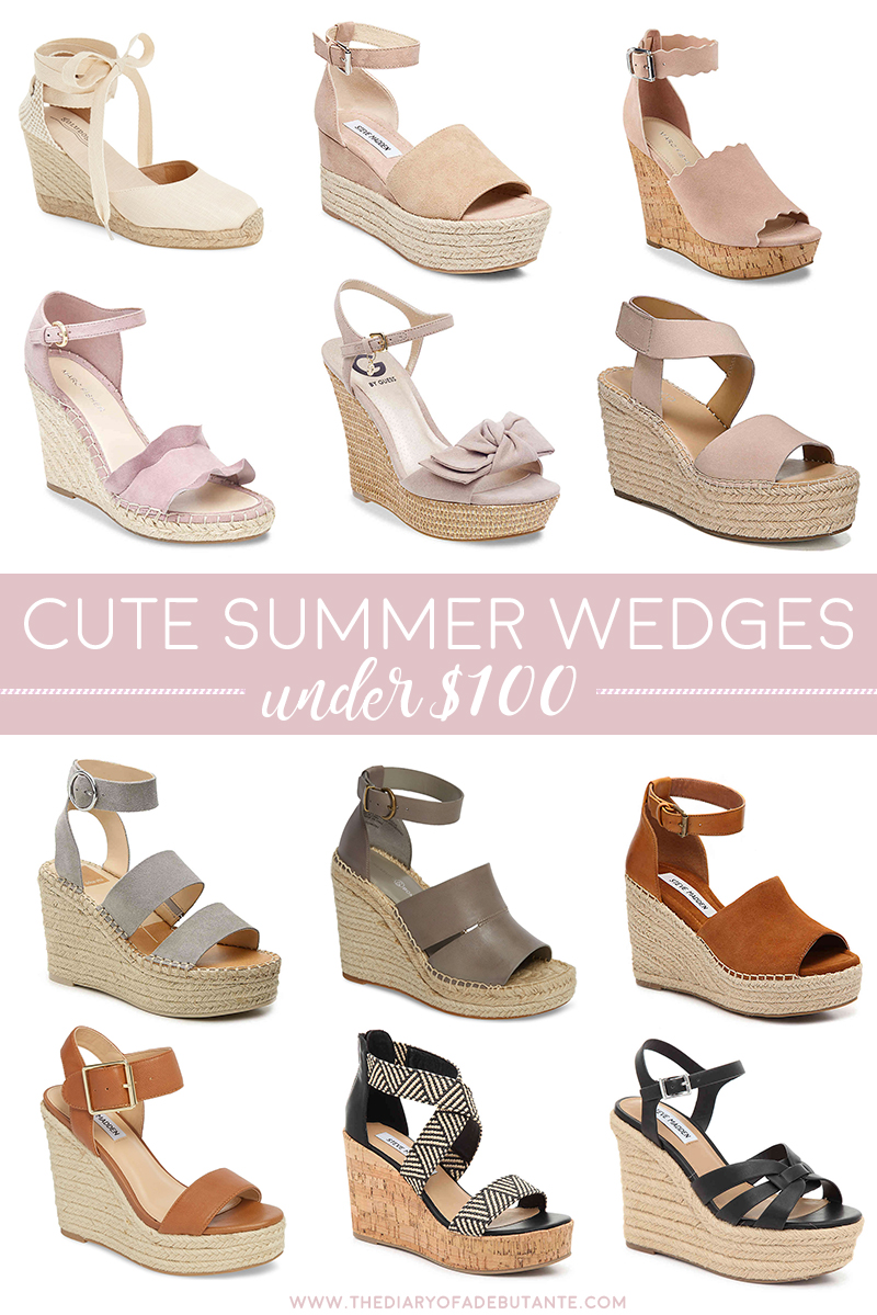 Cheap Cute Wedges for Summer under $100 by southern fashion blogger Stephanie Ziajka from Diary of a Debutante, summer wedges, summer wedge shoes, womens sandals under 100