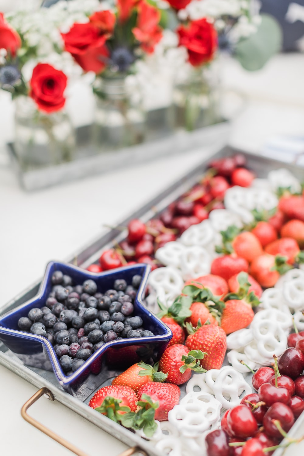 4th of July appetizer tray created by blogger Stephanie Ziajka on Diary of a Debutante