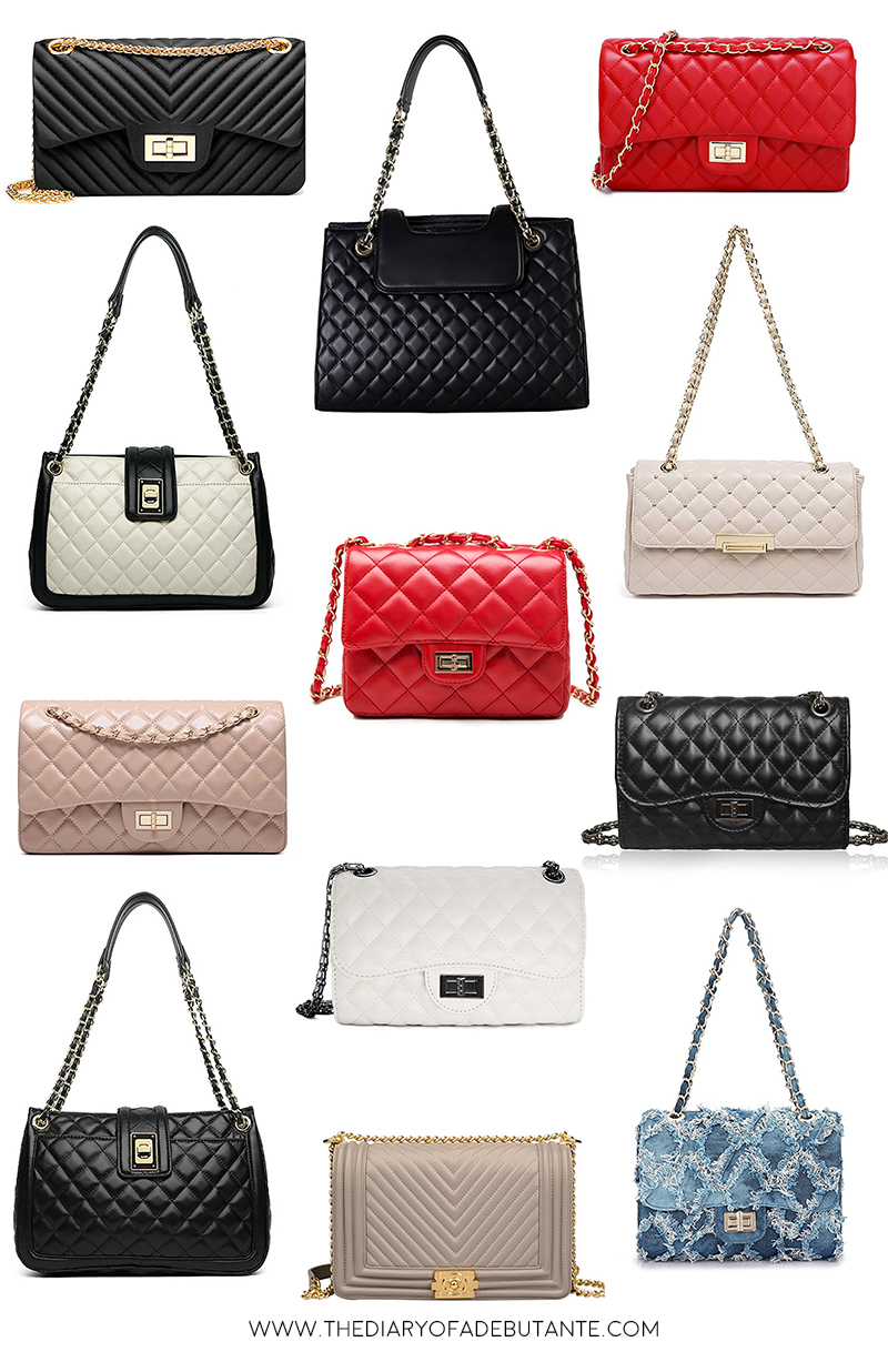 The Best Chanel Dupes (And Where to Find Them) by fashion blogger Stephanie Ziajka from Diary of a Debutante, Chanel designer dupe bags, Chanel designer handbag dupes,