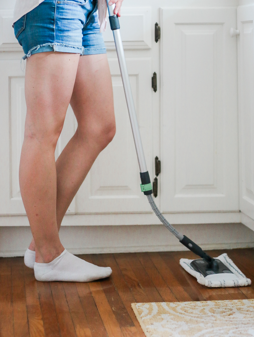 best way to clean hardwood floors with pets, best mop for dog hair on hardwood, STAINMASTER Sweep and Mop Kit review, Cleaning Hacks for Dog Moms: How to Tidy Your Home in 15 Minutes (or Less) by southern lifestyle blogger Stephanie Ziajka from Diary of a Debutante