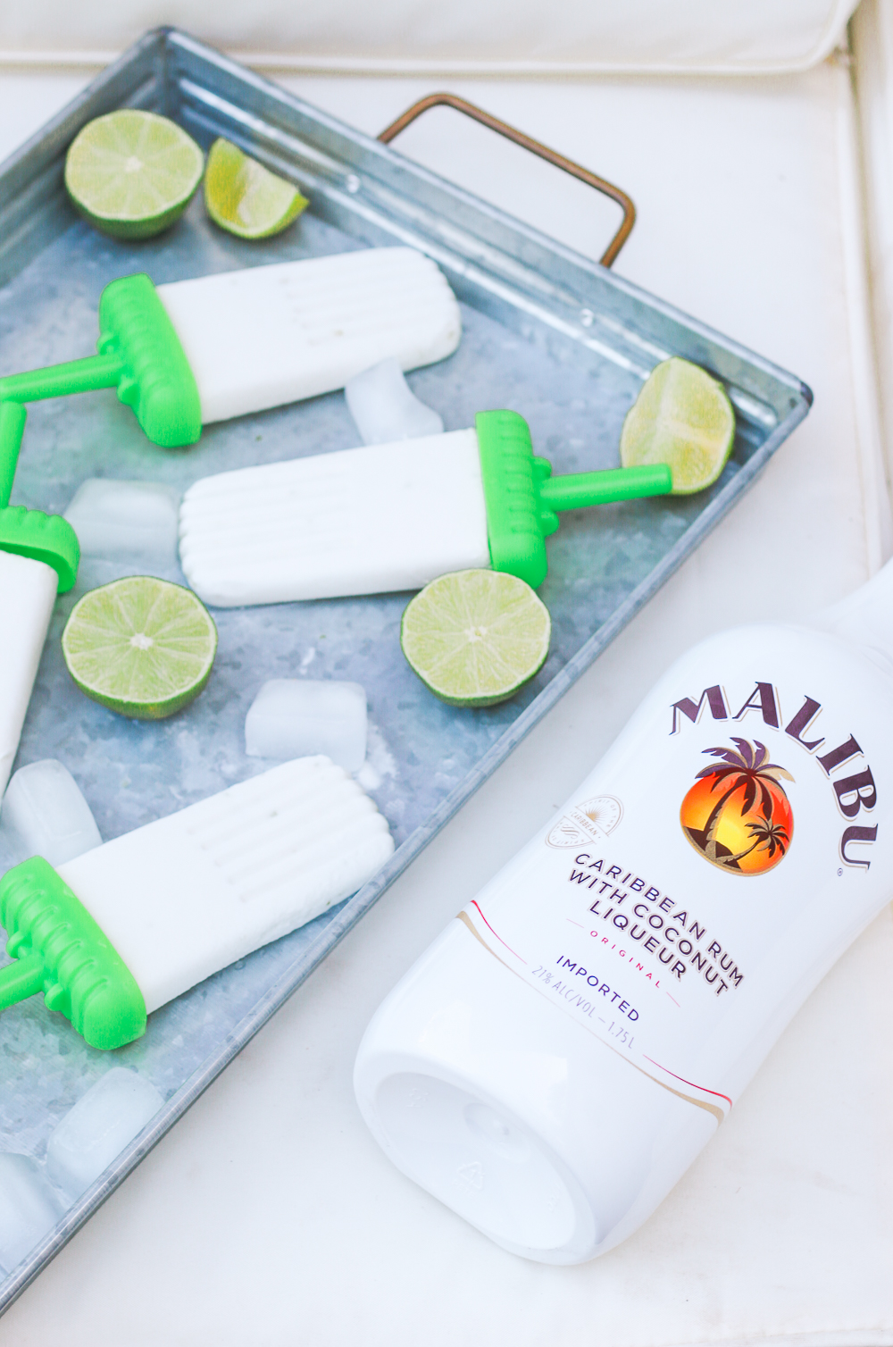 Malibu rum popsicles recipe by blogger Stephanie Ziajka on Diary of a Debutante