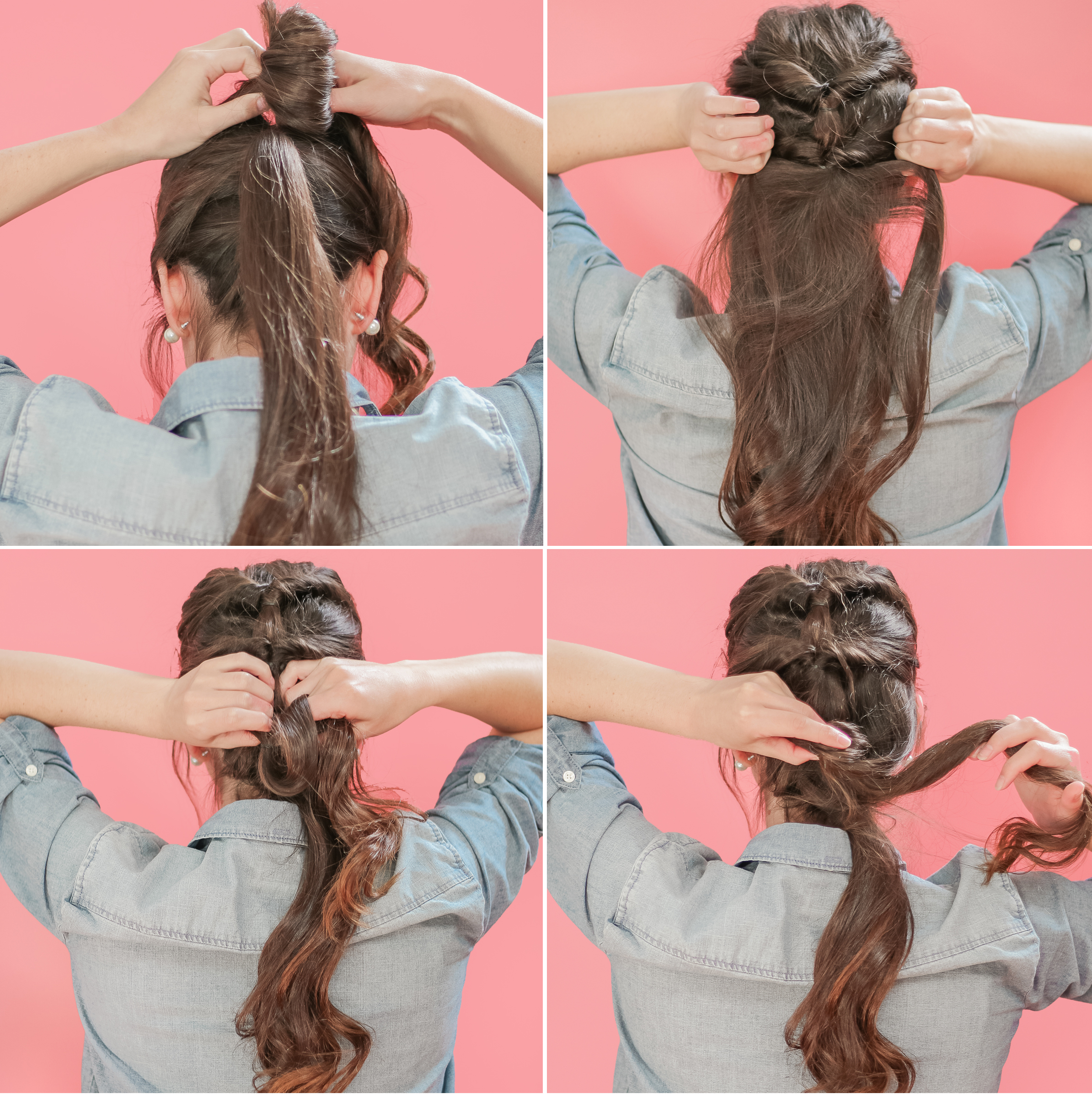 Fall Hair Woes: Tips for Caring for Your Scalp and Topsy Tail Ponytail Tutorial for Long Hair by southern lifestyle blogger Stephanie Ziajka from Diary of a Debutante, easy hairstyle tutorial, Dove Dermacare Scalp Soothing Moisture Anti-Dandruff Shampoo review, hairstyles for long hair step by step, easy ponytail hairstyles step by step