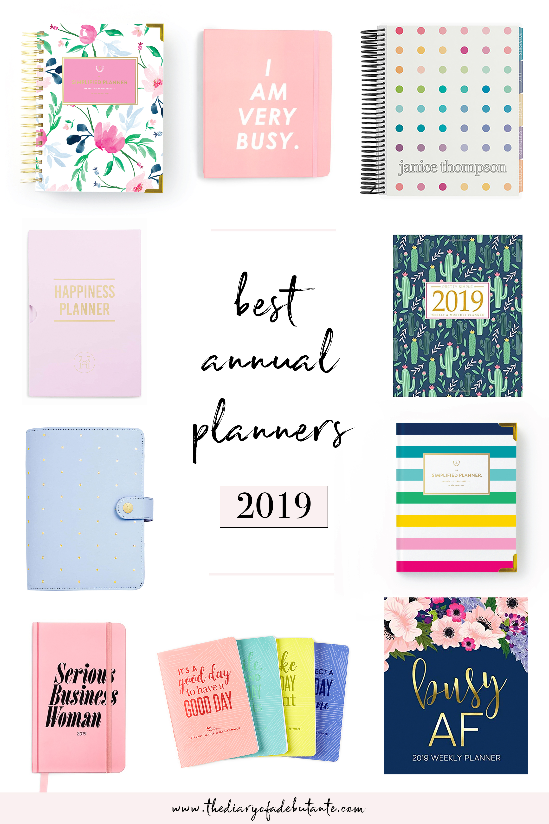 best planners for working women 2019, best planners for women 2019, best planners and organizers 2019,