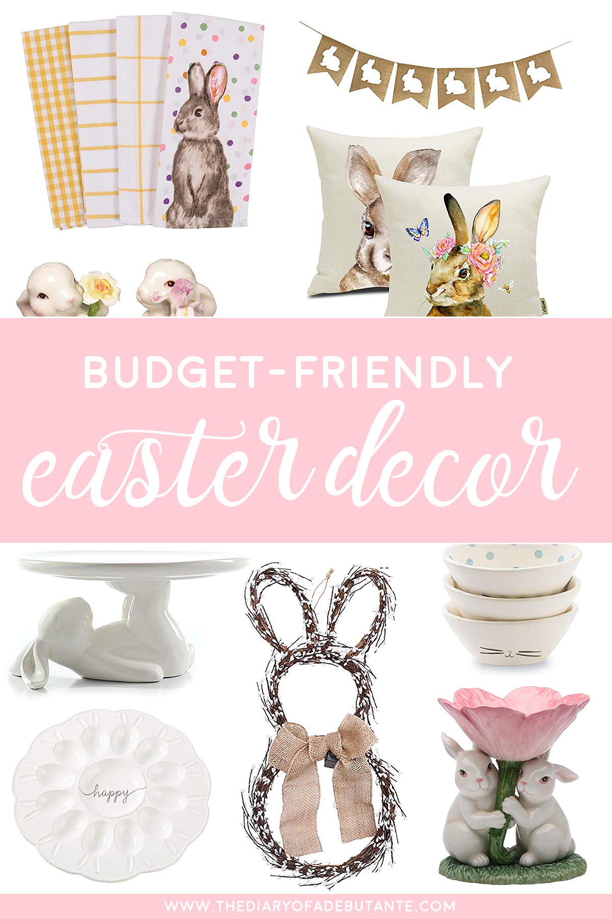 Easter Home Decor: 24 of the Best Easter Decorations on Amazon by affordable southern lifestyle blogger Stephanie Ziajka from Diary of a Debutante, best easter decor finds on amazon, best place to buy easter decorations, modern easter decor