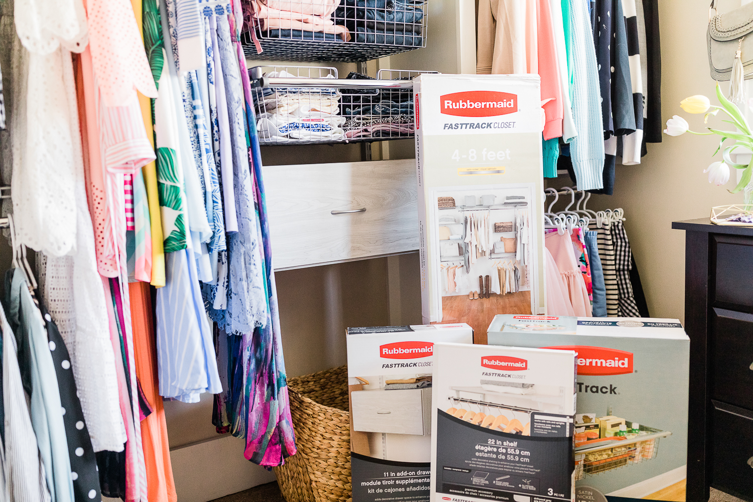 How To: Refresh Your Closet with a Rubbermaid FastTrack Closet System by Stephanie Ziajka from the popular southern lifestyle blog Diary of a Debutante, Rubbermaid FastTrack Closet Organization System review and install, affordable custom closet system