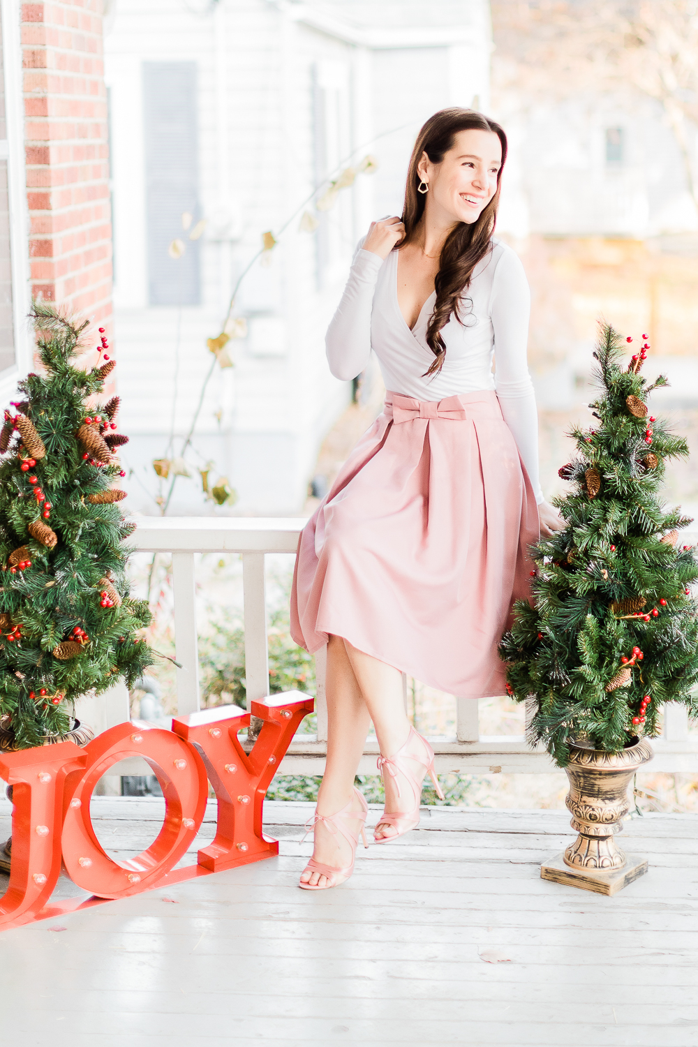 Preppy Christmas party outfit idea styled by affordable fashion blogger Stephanie Ziajka on Diary of a Debutante