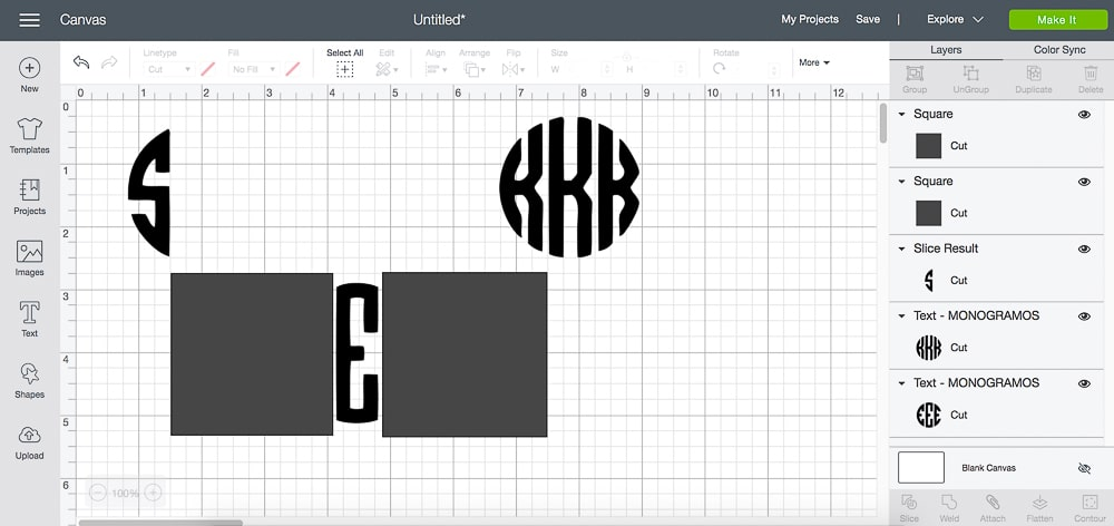 DIY blogger Stephanie Ziajka of Diary of a Debutante shows how to create monogram online in Cricut Design Space