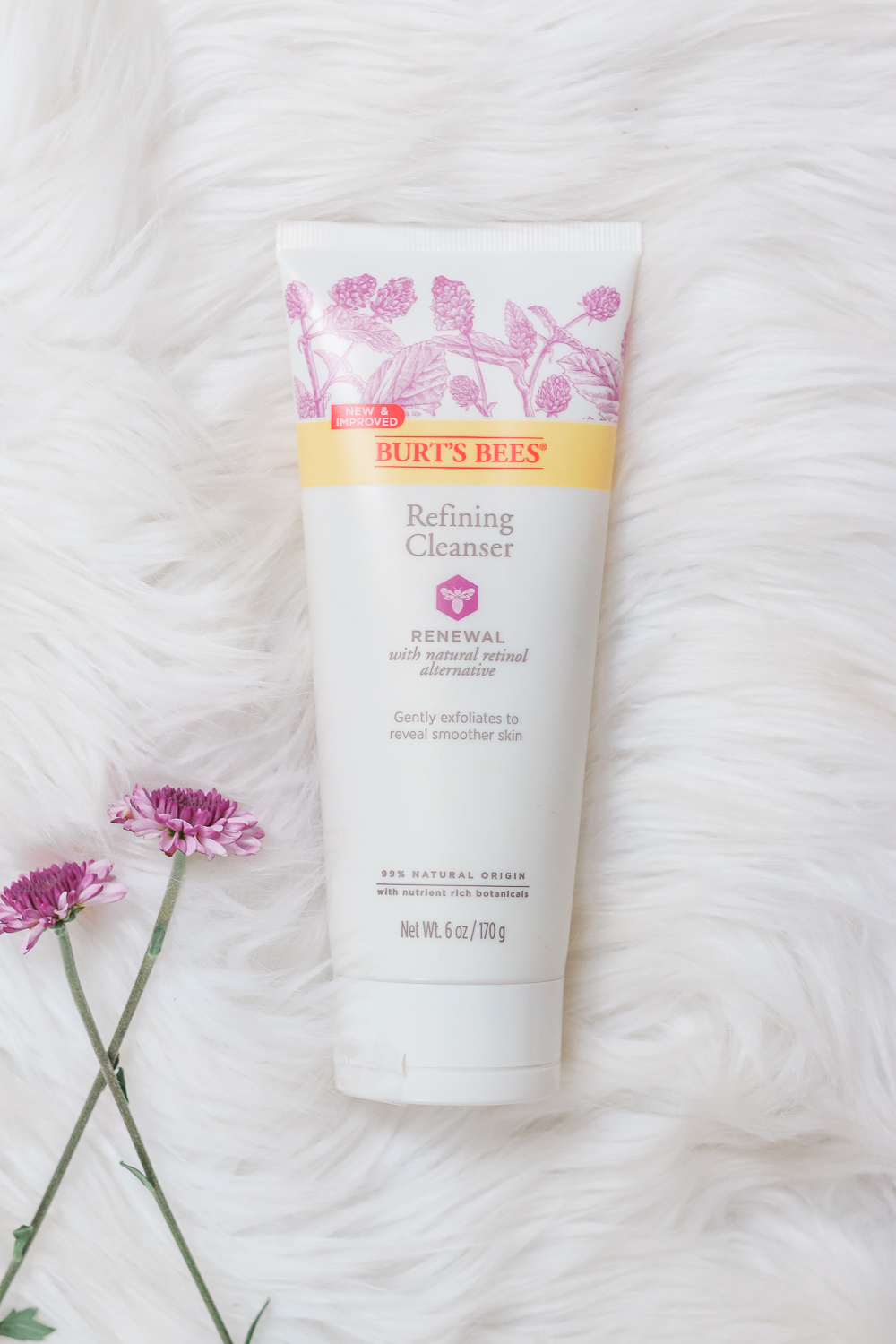 As part of a complete Burt's Bees Renewal skincare review, beauty blogger Stephanie Ziajka shares a Burt's Bees Renewal Cleanser review on Diary of a Debutante
