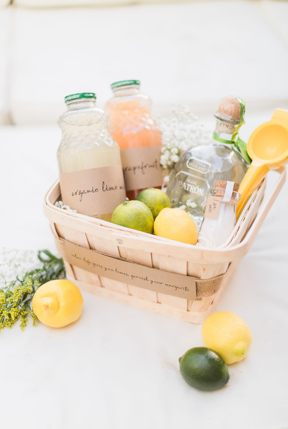 Blogger Stephanie Ziajka shares a DIY margarita gift basket on Diary of a Debutante