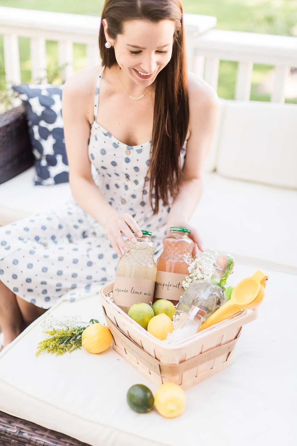 Blogger Stephanie Ziajka shows how she turned a homemade gift basket into a craft cocktail kit on Diary of a Debutante
