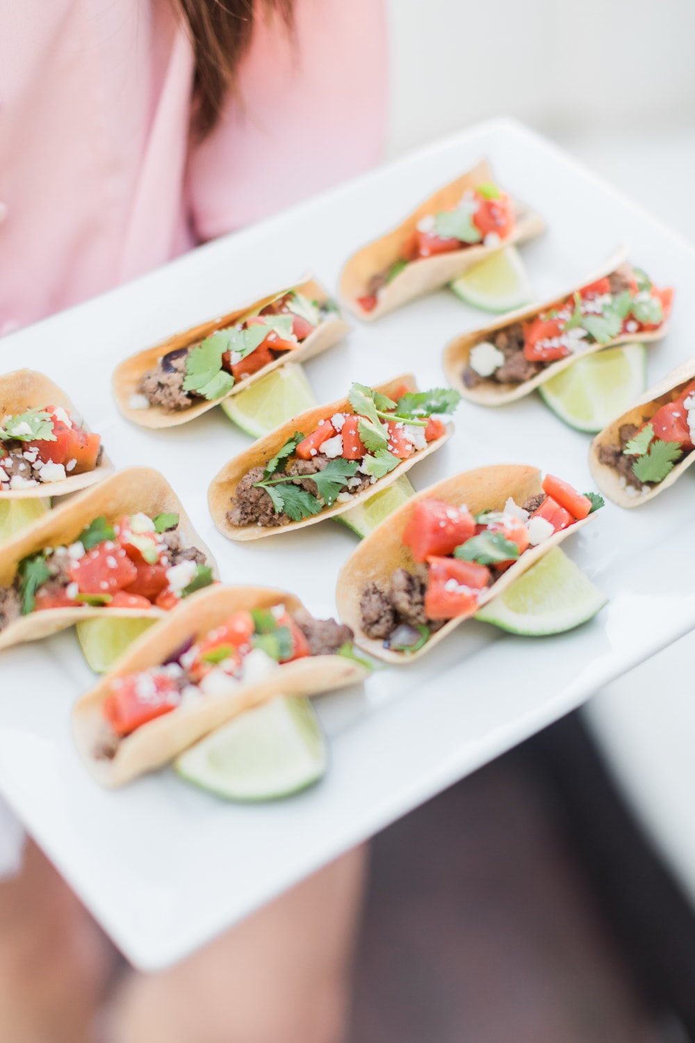 Mini taco bites recipe adapted from Pizzazzerie's Entertain in Style by blogger Stephanie Ziajka on Diary of a Debutante