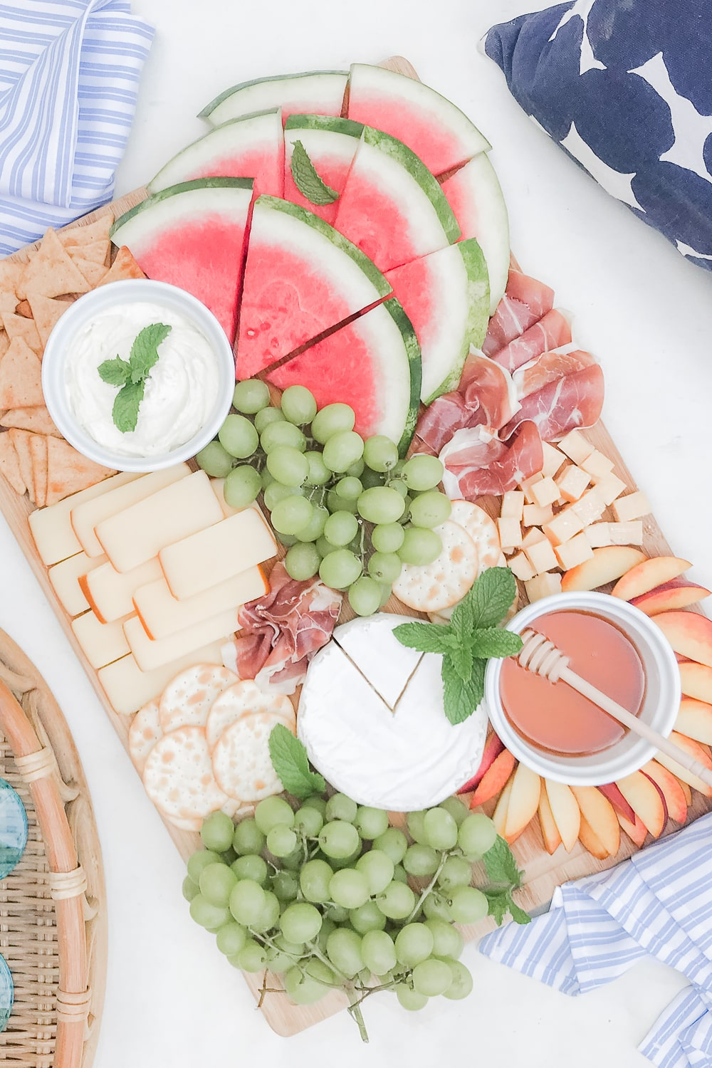 Summer charcuterie board ideas from blogger Stephanie Ziajka on Diary of a Debutante