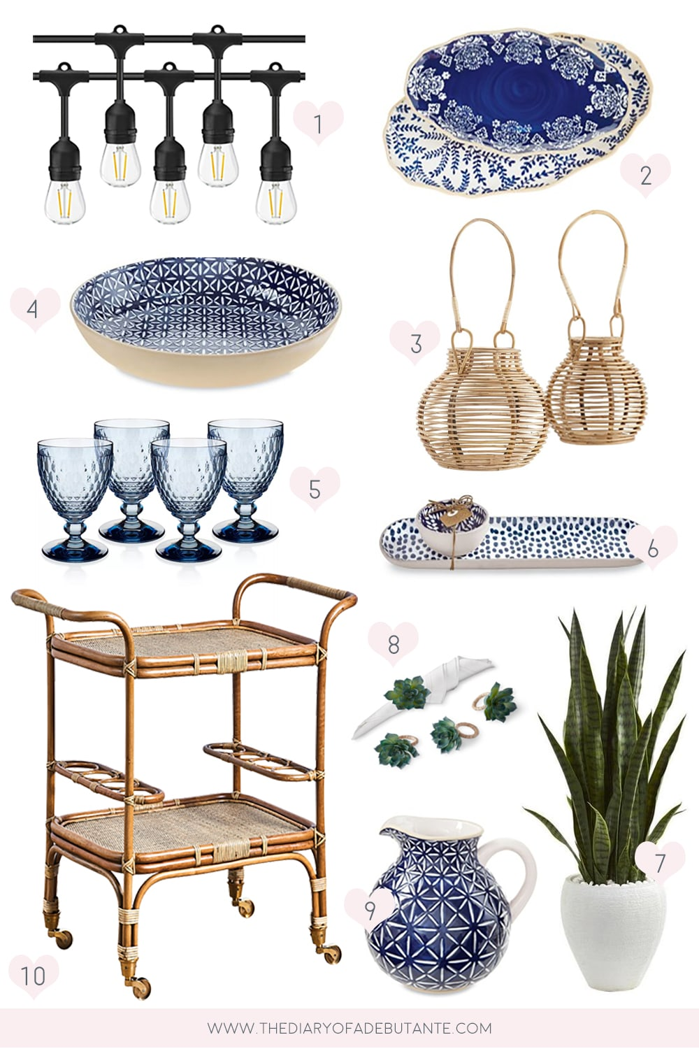 Affordable outdoor dining decor ideas curated by entertaining blogger Stephanie Ziajka on Diary of a Debutante