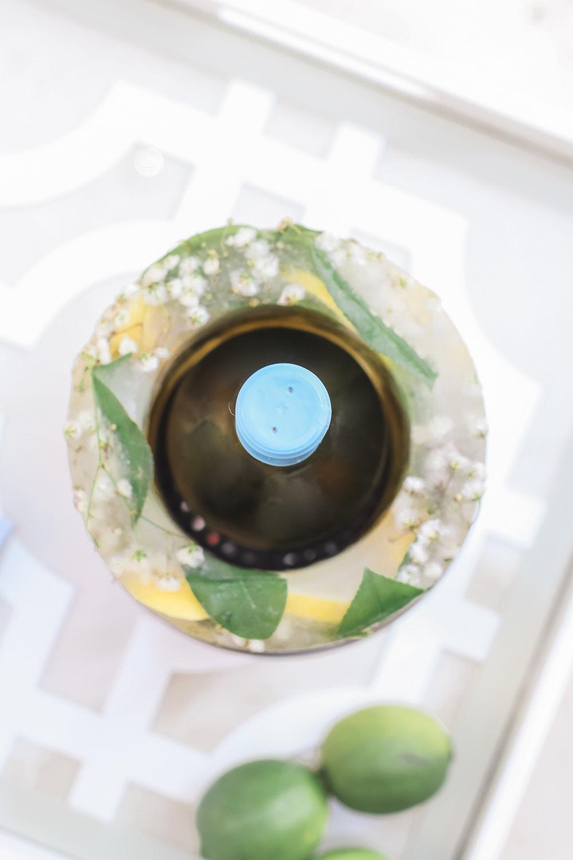 DIY wine bottle chiller sleeve tutorial by entertaining blogger Stephanie Ziajka on Diary of a Debutante