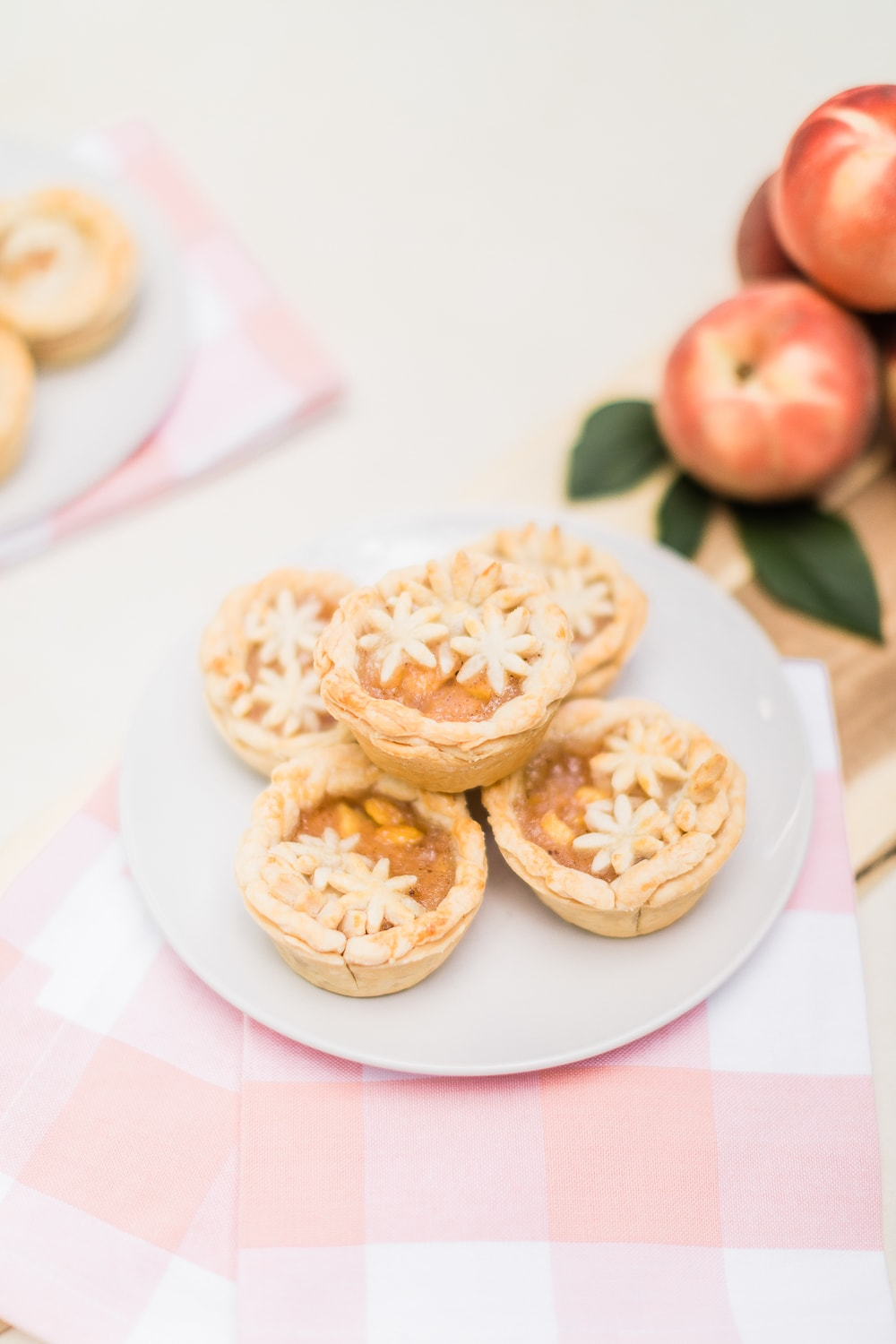 Individual peach pie recipe by southern lifestyle blogger Stephanie Ziajka on Diary of a Debutante