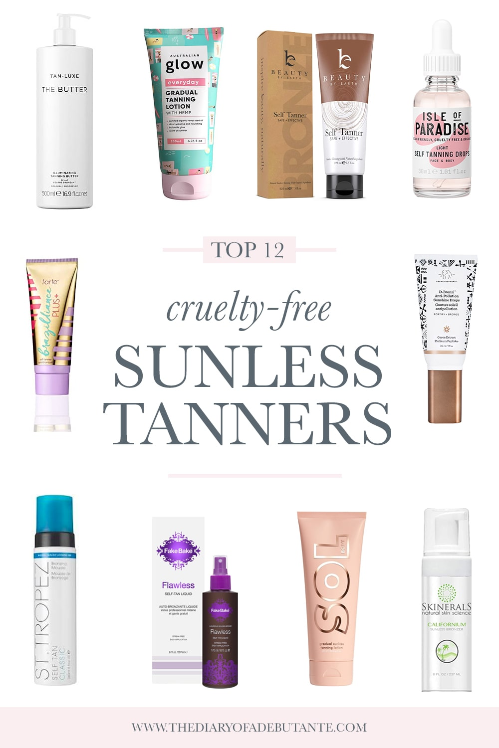 Best cruelty free self tanner products rounded up by cruelty free beauty blogger Stephanie Ziajka on Diary of a Debutante