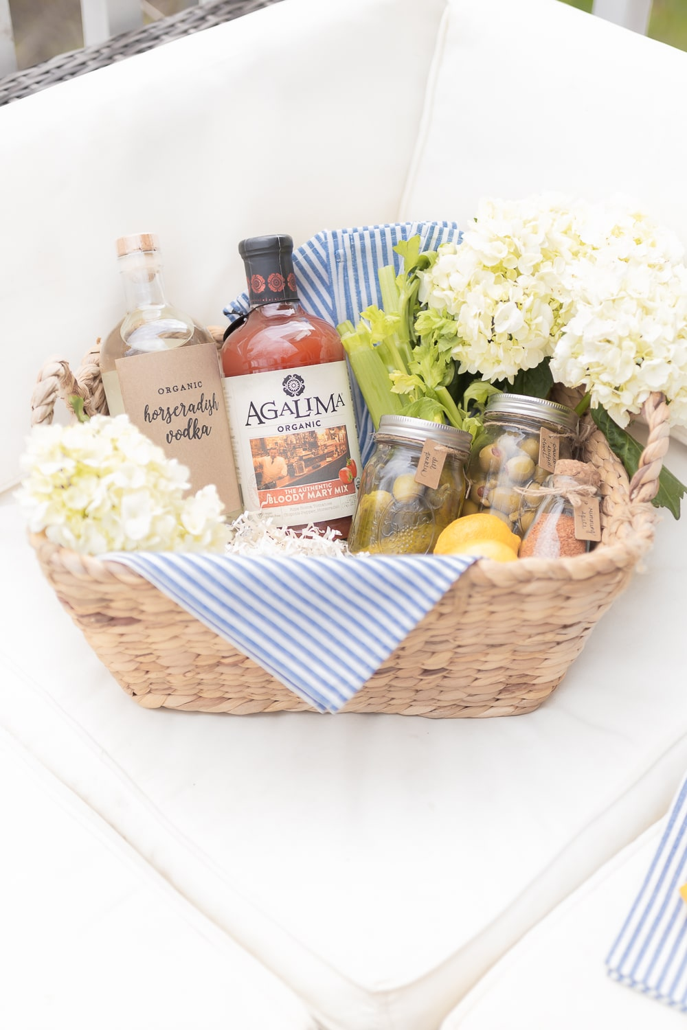Bloody mary gift basket created by blogger Stephanie Ziajka on Diary of a Debutante