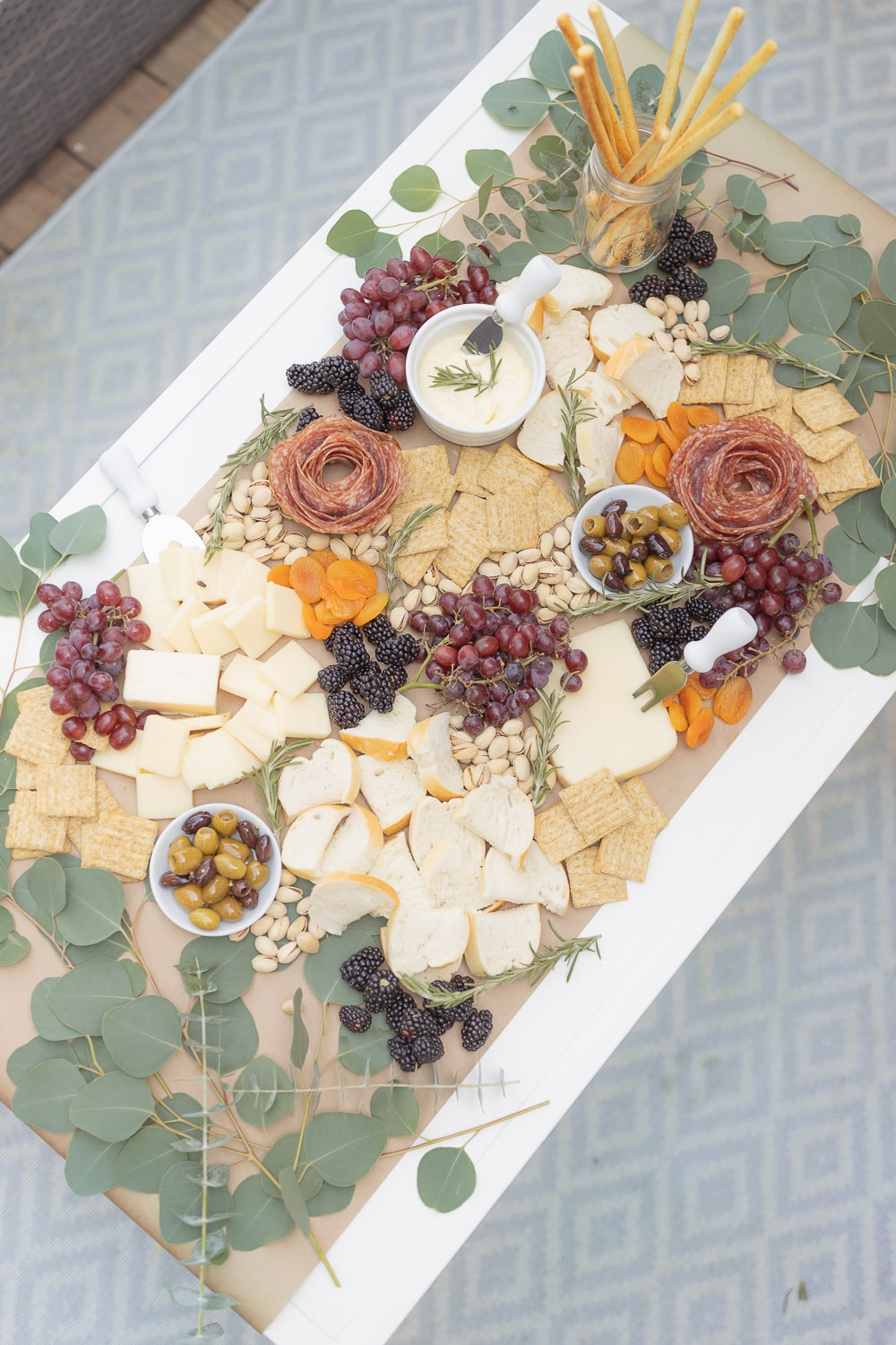 Blogger Stephanie Ziajka shows how to make a grazing table for under $50 on Diary of a Debutante