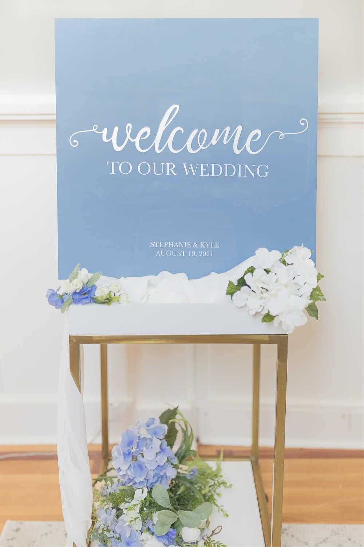 Cricut wedding welcome sign tutorial by DIY blogger Stephanie Ziajka on Diary of a Debutante