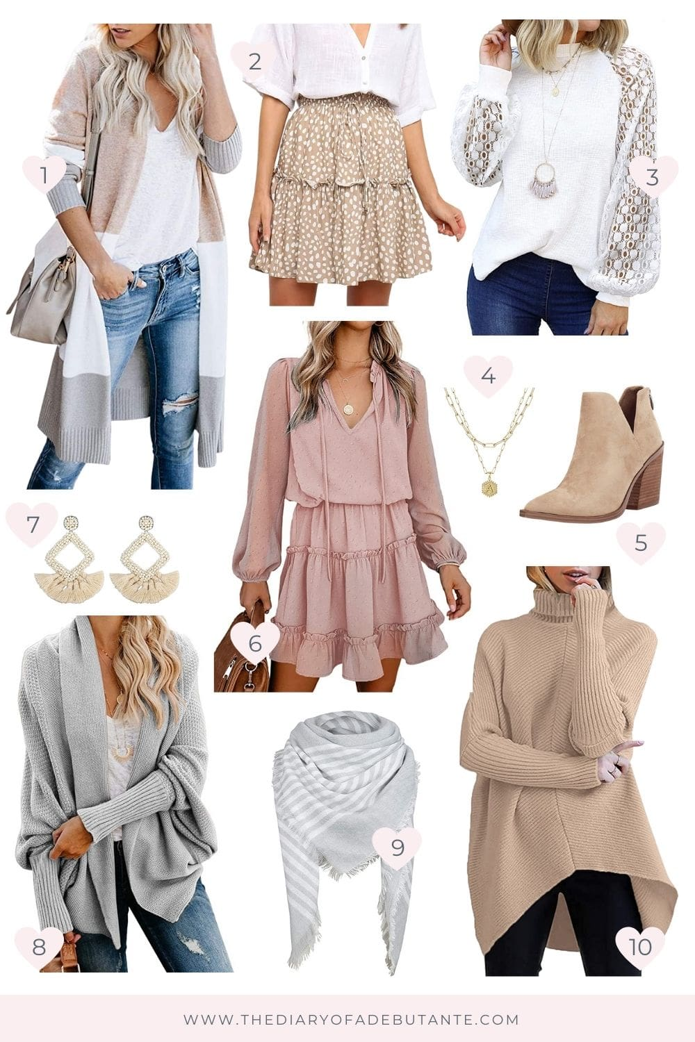 Top neutral Amazon Fashion finds for fall rounded up by affordable fashion blogger Stephanie Ziajka on Diary of a Debutante